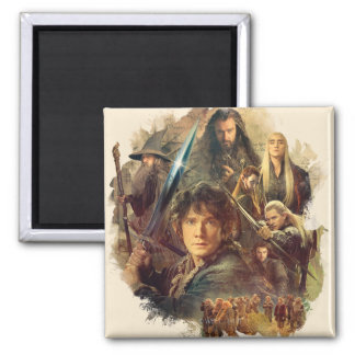 The Company and Elves of Mirkwood Refrigerator Magnet