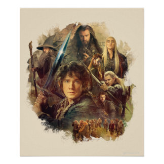 The Company and Elves of Mirkwood Print