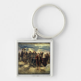 The Company Framed Silver-Colored Square Keychain