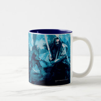 The Company in Mirkwood Movie Poster Two-Tone Coffee Mug
