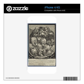 The Company of Undertakers by William Hogarth Decal For iPhone 4