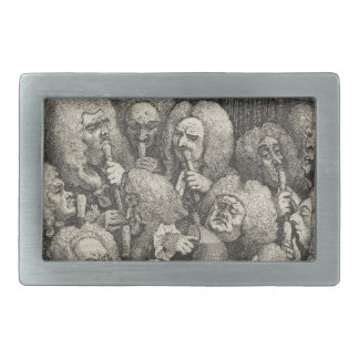 The Company of Undertakers by William Hogarth Rectangular Belt Buckle