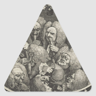 The Company of Undertakers by William Hogarth Triangle Sticker