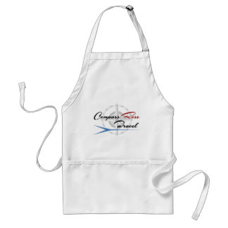 The Compass Rose Travel logo on EVERYTHING! Adult Apron