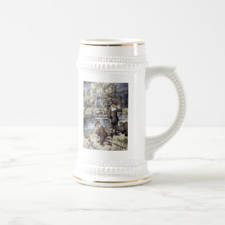 The Compleat Angler Beer Stein 18 Oz Beer Stein
