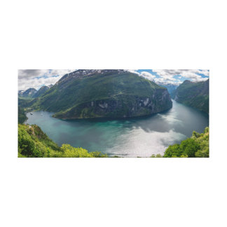 The complete Geirangerfjord in panorama canvas