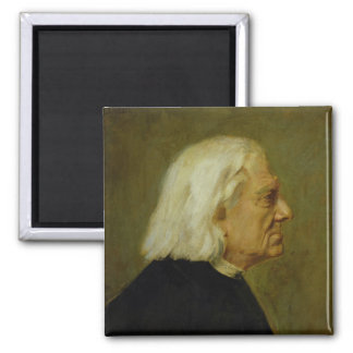 The Composer Franz Liszt , 1884 2 Inch Square Magnet