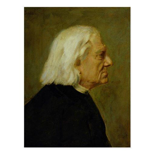 The Composer Franz Liszt , 1884 Post Card