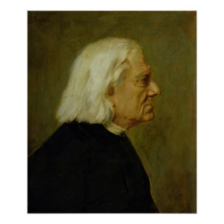 The Composer Franz Liszt , 1884 Poster