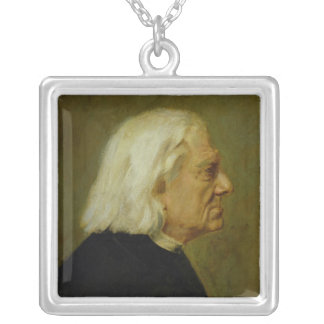 The Composer Franz Liszt , 1884 Silver Plated Necklace