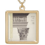 The Composite Order (w/c, wash, pen and black ink Square Pendant Necklace