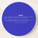 The Computer Blue Screen of Death Beverage Coaster