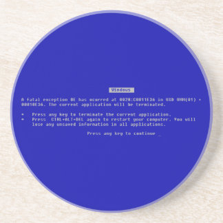 The Computer Blue Screen of Death Coaster
