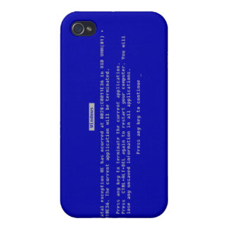 The Computer Blue Screen of Death iPhone 4 Cover