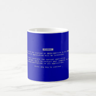 The Computer Blue Screen of Death Mugs