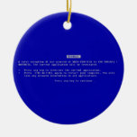 The Computer Blue Screen of Death Christmas Ornament