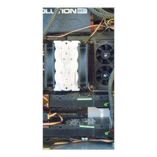The computer equipment custom photo card