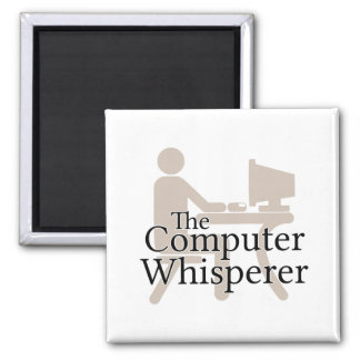 The Computer Whisperer 2 Inch Square Magnet