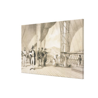 The Comte de Bourmont and Admiral Duperre on board Stretched Canvas Prints