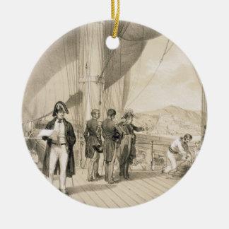 The Comte de Bourmont and Admiral Duperre on board Ceramic Ornament