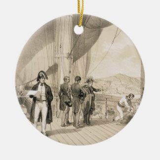 The Comte de Bourmont and Admiral Duperre on board Christmas Ornament