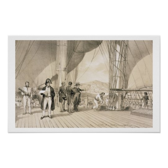 The Comte de Bourmont and Admiral Duperre on board Poster