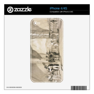 The Comte de Bourmont and Admiral Duperre on board Skins For iPhone 4