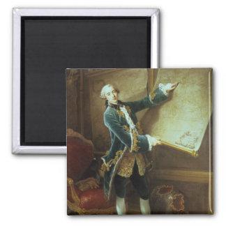 The Comte de Vaudreuil, 1758 2 Inch Square Magnet