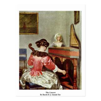 The Concert By Borch D. J. Gerard Ter Postcard