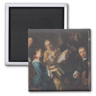 The Concert, c.1755 2 Inch Square Magnet