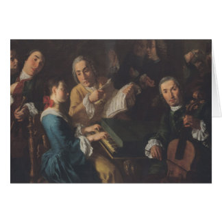 The Concert, c.1755 Card