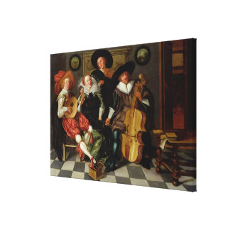 The Concert (oil on panel) Canvas Print