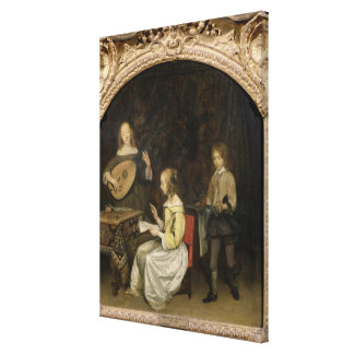 The Concert: Singer and Theorbo Player Canvas Print