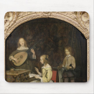 The Concert: Singer and Theorbo Player Mouse Pad