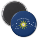 The Conch Republic Flag 2 Inch Round Magnet