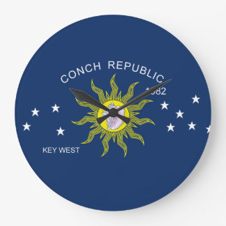 The Conch Republic Flag Wallclock