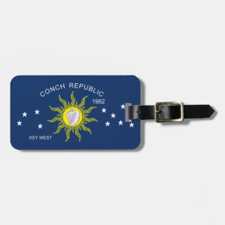 The Conch Republic Flag Travel Bag Tags