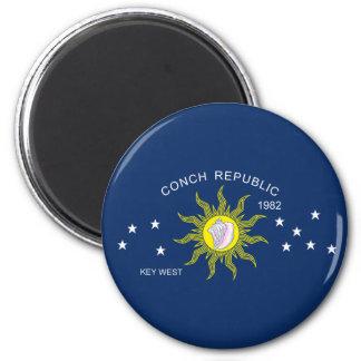 The Conch Republic Flag Fridge Magnet