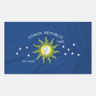 The Conch Republic Flag Rectangle Sticker