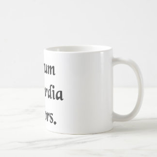 The concord of things through discord. classic white coffee mug