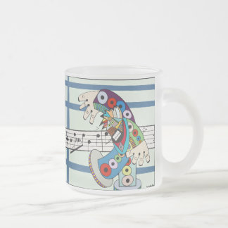 """The Conductor"" by Ruchell Alexander Frosted Glass Coffee Mug"