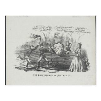 The Confederacy in Petticoats Postcard