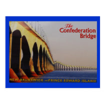 THE CONFEDERATION BRIDGE P-E-I CANADA POSTCARD