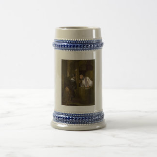 The Confession by Giuseppe Molteni 1838 18 Oz Beer Stein