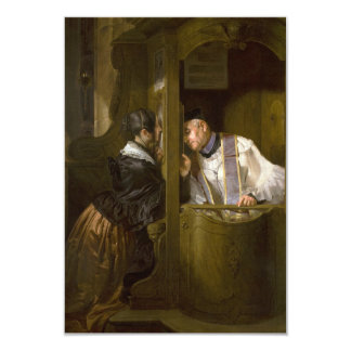 The Confession by Giuseppe Molteni 1838 Card
