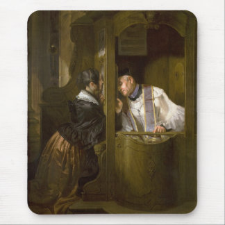The Confession by Giuseppe Molteni 1838 Mouse Pad