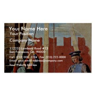 The Confession By Piero Della Francesca Business Card Templates
