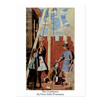 The Confession. By Piero Della Francesca Postcard