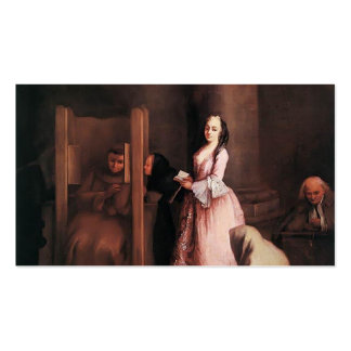The Confession by Pietro Longhi Business Card Templates