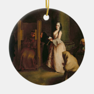The Confession, c.1755 (oil on canvas) Ceramic Ornament